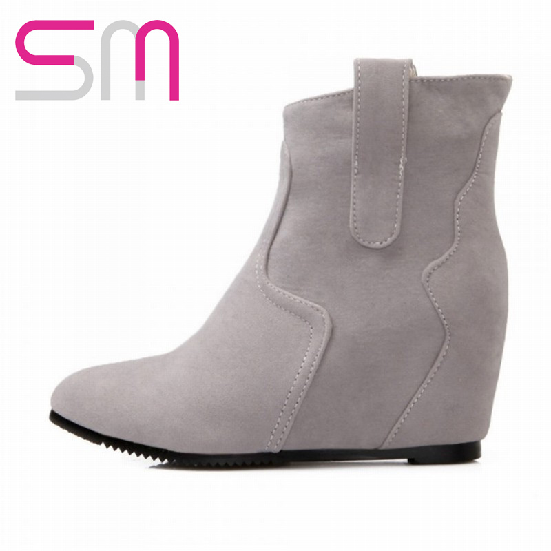 40d1120ccb09 Get Quotations · Special Pointed toe Hidden Wedge Boots New Style Ankle  Boots 2015 Fashion Women s Spring Autumn