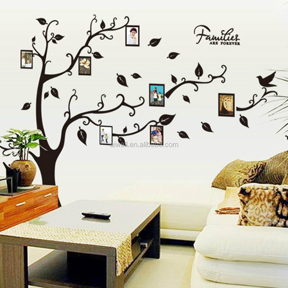 9063A DIY Family Tree Wall Sticker Photo Frame Wall Decal 3D Vinyl Photo  Album Removable Home Part 98