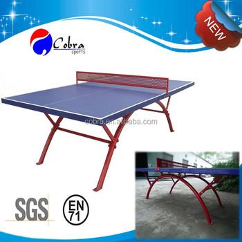 SMC Waterproof Tennis Table/Ping Pong Table Rainbow Metal Leg,ball,net