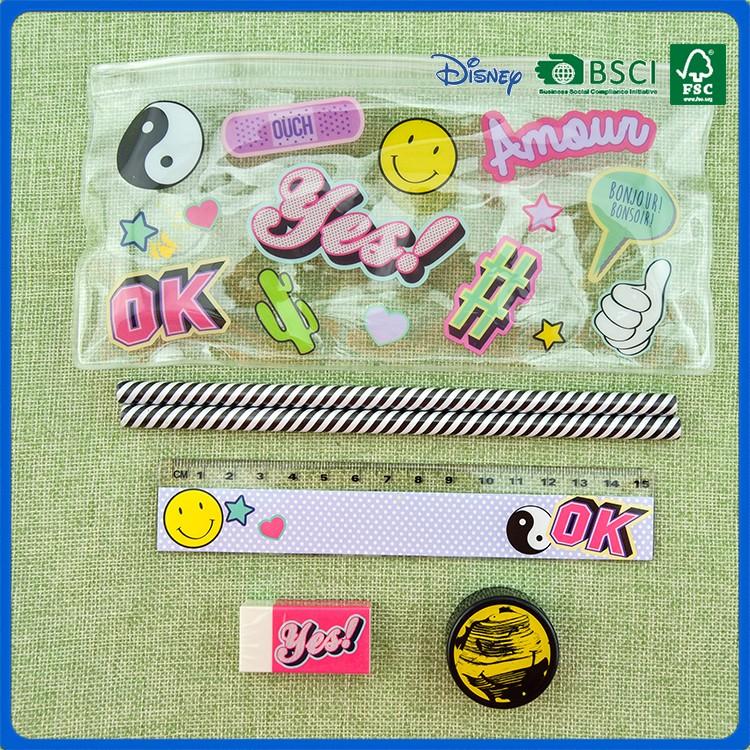 Hot Sale Wholesale Pvc School Stationery 5 Pcs Set For Kids Gift ...