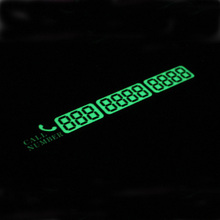 Temporary Car Parking Card Telephone Number Card Notification Night Light Sucker Plate Car Styling Phone Number Card Warning Tip