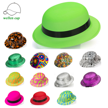 Hot Sale Funny Round Top Plastic Glitter Pvc Party Hats - Buy Party ... dbb41e15f21