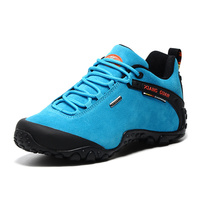 Xiangguan Women Top Quality Lace Up Outdoor Sport Shoes Suede&Cow Leather Hiking Running Shoes