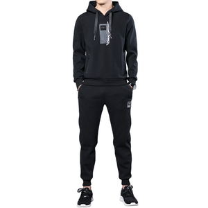 spring autumn men's sport suit hoodie and jogger pant two pieces sets tracksuit sport wear