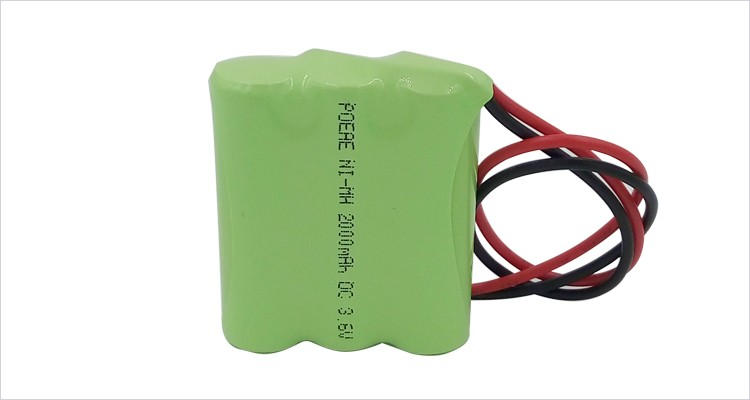 ni-mh aa 3.6v 2000mah rechargeable battery pack