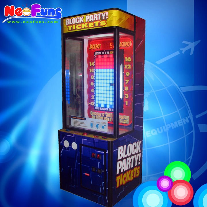Hot sales build a brick gift machine Block Party Game Prize Machines