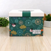 Factory Promotion Custom printing folding moon cake packaging gift paper box