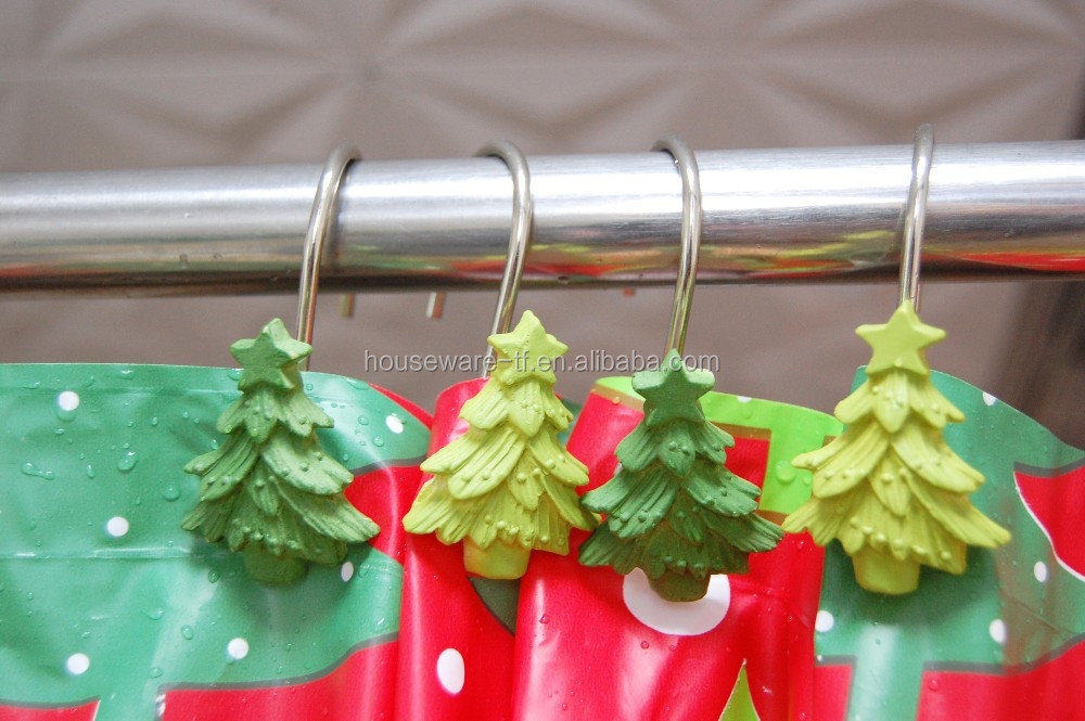 Kunsthandwerk Halloween Weihnachten Polyresin Duschvorhang Haken ...