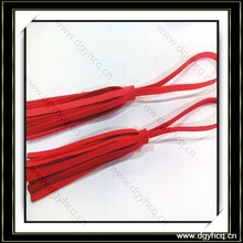New arrival red color suede leather tassel for hotel decoration