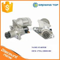Excavator Engine Spare Parts 17534/ 228000-083 Automatic Car Starter for Toyota