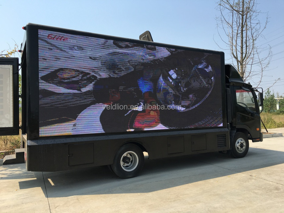 FOTON P5 P6 P8 full color waterproof and shockproof led outdoor mobile advertising stage trucks for sale
