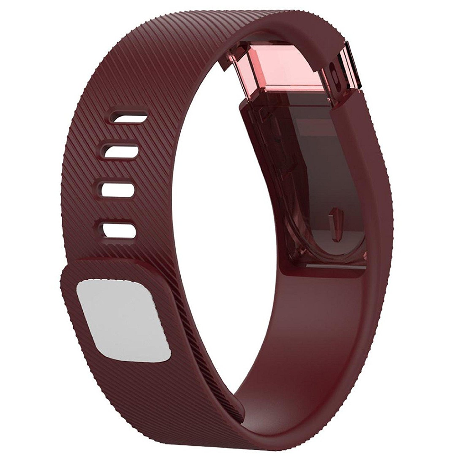 Owill Durable Solid Colour Soft Replacement Silicone Band Rubber Strap Wristband Bracelet For Fitbit Charge (Red)