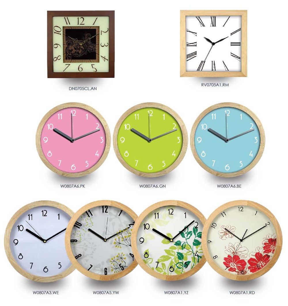 12 simple design wooden frame clock made in chinaroman numeral 12 simple design wooden frame clock made in chinaroman numeral home decor wall amipublicfo Gallery