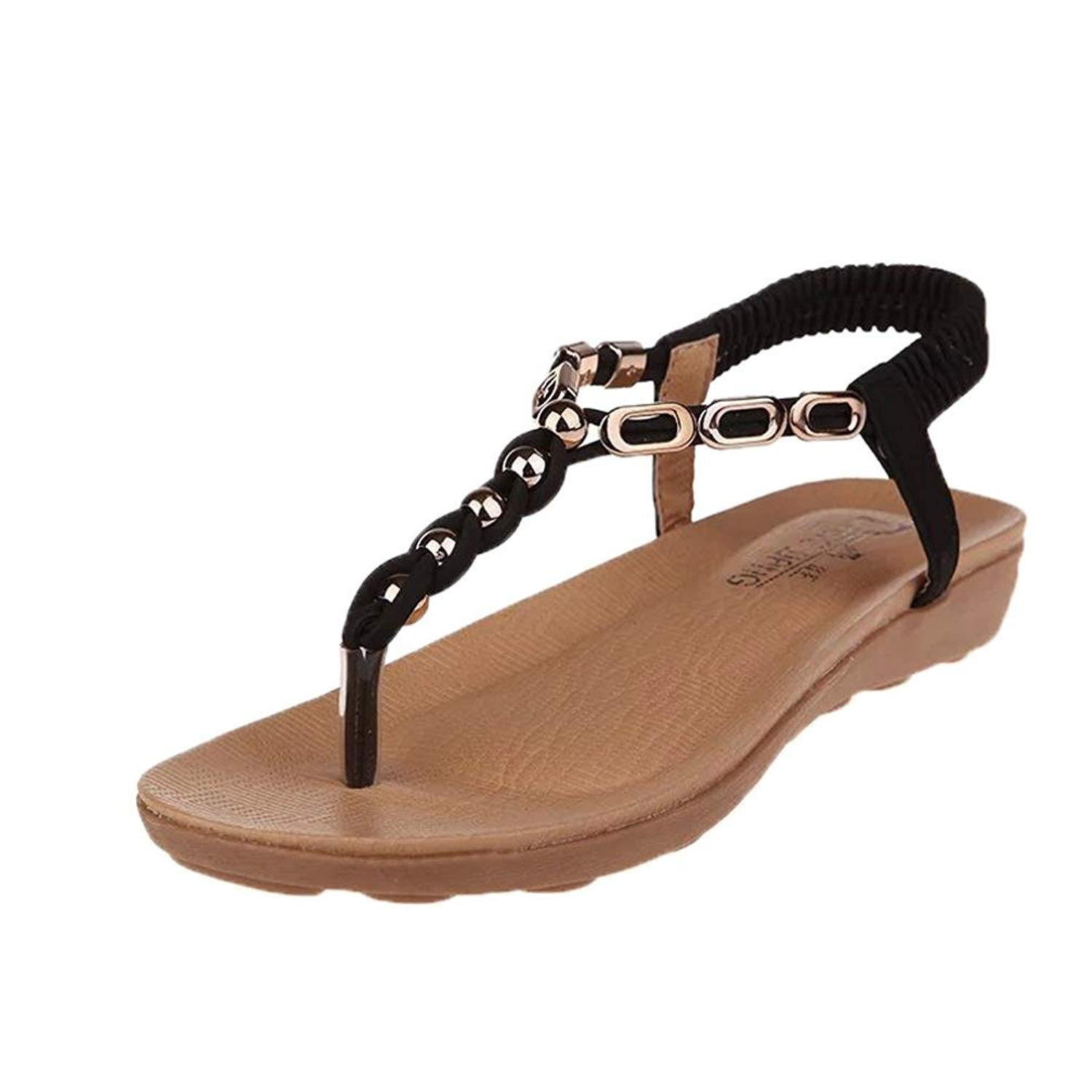 4d59dac76e1f Get Quotations · Clearance Sale! ❤ Universal Braided Ankle T-Strap Bohemia  Sandal for Women