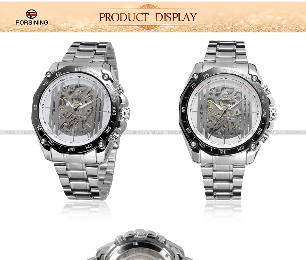 2019 Chinese Forsining Wholesale Factory Skeleton Men Watch Automatic movement relojes al por mayor uhren Support OEM