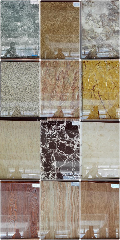 Waterproof Bathroom Wall Panels: Fluorocarbon Coating Mable Textured Waterproof Bathroom