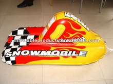 PVC inflatable snow motorboat /inflatable slide