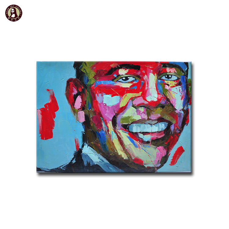 Heavy Painted Bright Color Face Knife Oil Painting Buy Knife Oil Painting Canvas Face Oil Painting Abstract Colorful Oil Painting Product On