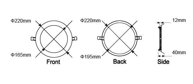 Cri > 80 Pf >0.9 6w 8w 12w 15w 18w 20w 25w Smd Panel Light Led,Ce ...