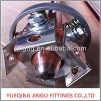 pneumatically activated high current copper contact