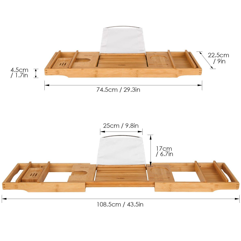 Stylish Bamboo Bathtub Caddy Tray CT-18062113 Details
