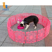 EBES portable plastic outdoor expandable folding pet recycled exercise play pen puppy dog fence panels