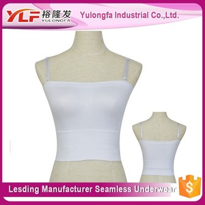 Hot Sale girl sport seamless hot sexy Bandeau Tube Tops With Cheap Price