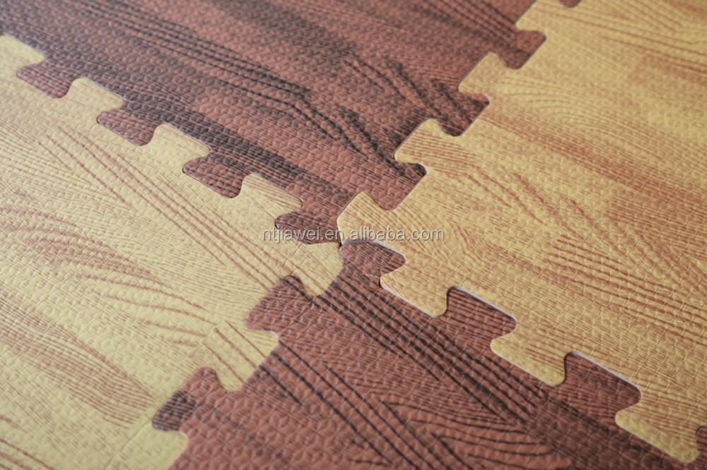 Eva foam mat effetto legno ad incastro per bambini schiuma