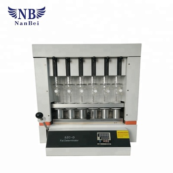 Auto Fat Analyzer with Soxhlet extraction theory