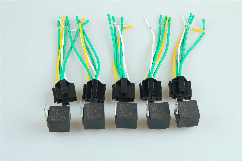 Buy 12v 12 Volt 30  40a Automotive Relay With Socket 30 Amp