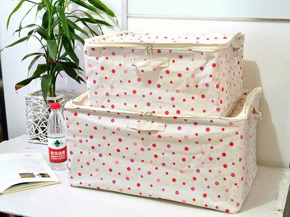 foldable linen storage box with zipper