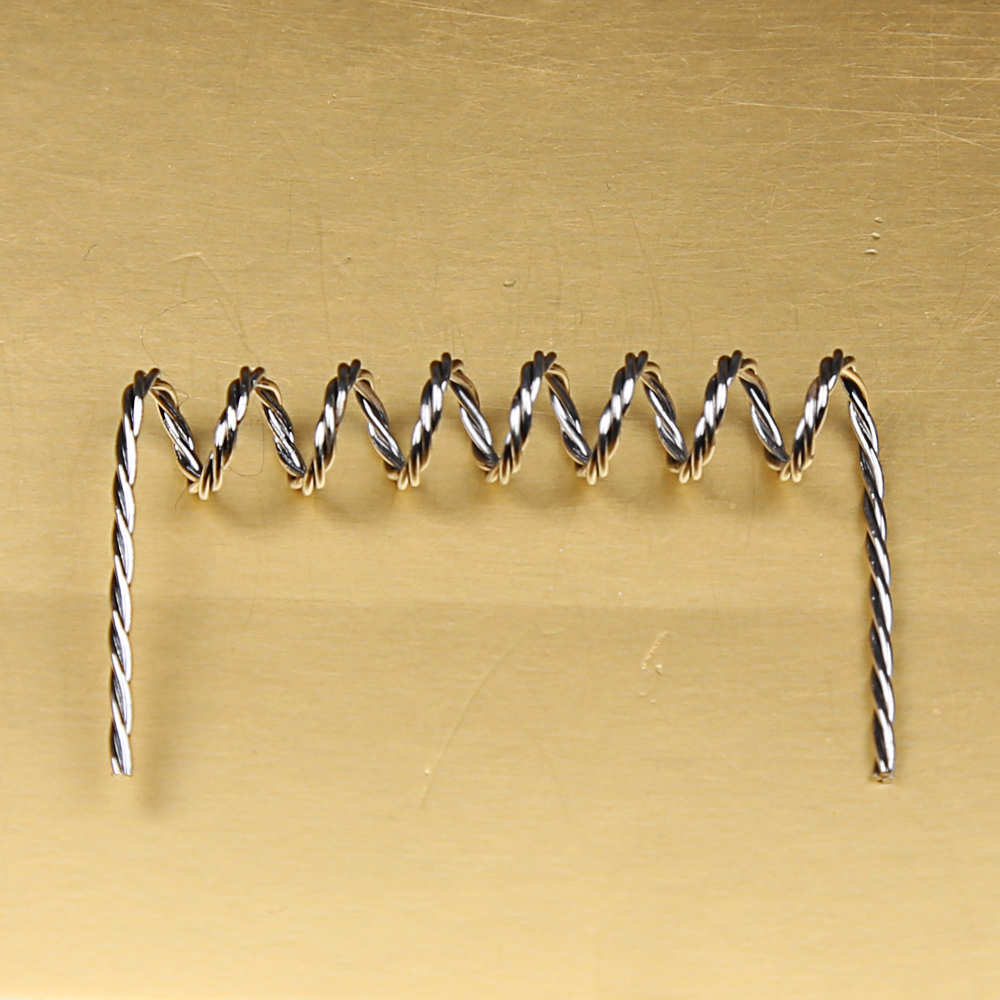 tungsten wire heating coil element for metallizing thin film evaporator