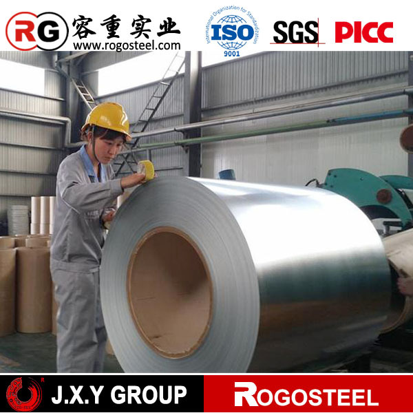 0.12-2.0mm zinc 40g regular spangle China trust pass favorable price specific heat galvanized steel