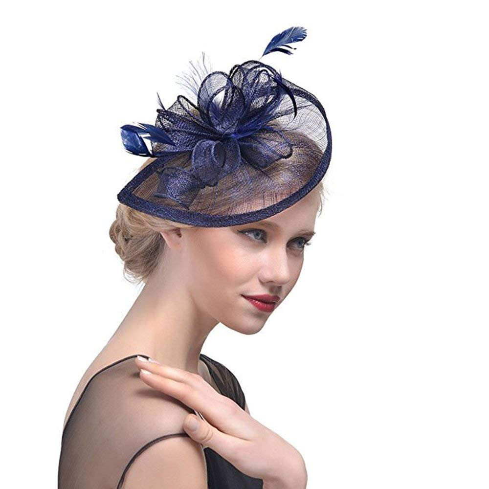 GIZZY® Ladies Peach Petals and Feathers Fascinator on Hair Clip /& Brooch Pin....