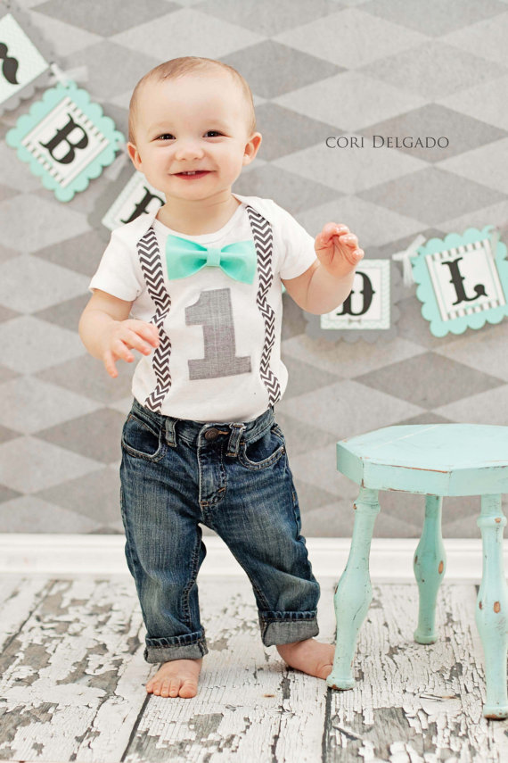 Custom One Year Old Baby Boys First Birthday Outfit Boy Clothes