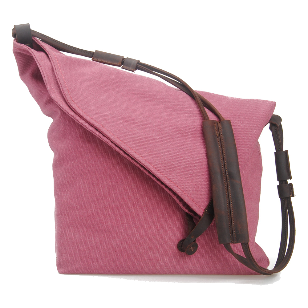 0f5e8d8179 Trendy Fashion Cute Rose Canvas Leather Sling Shoulder Bag and Handbag For  Women