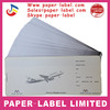custom printing sheet perforated boarding pass card airline luggage tags