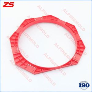 Plastic injection paving mould for concrete tiles