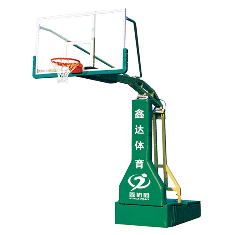 आउटडोर पेशेवर गैर हाइड्रोलिक चल बास्केटबॉल घेरा पोर्टेबल पहियों के साथ खड़े हो जाओ