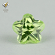 top sales apple green gems flower shape cz