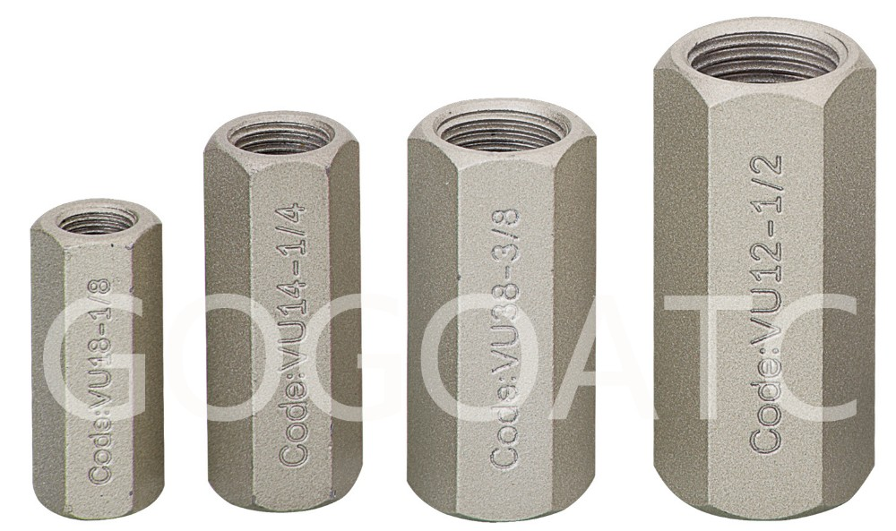 one-way valves sus304 stainless steel check valve air 1/8
