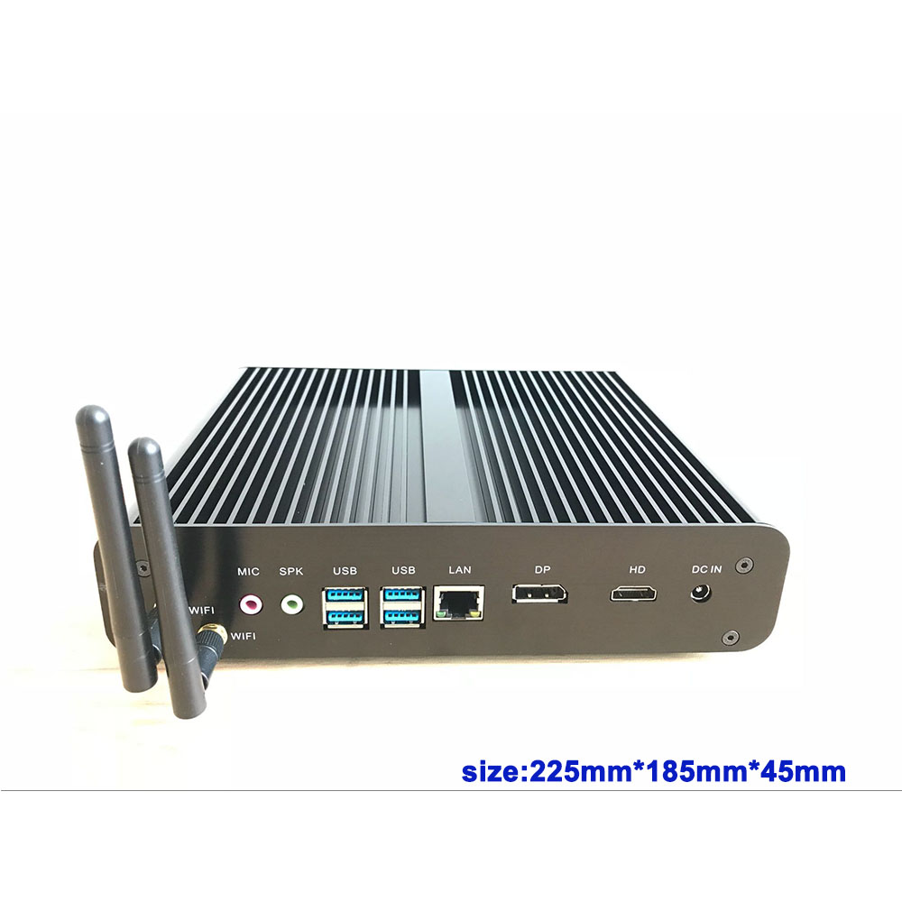 Findarling X7D 7th Gen Kaby Lake Fanless Mini PC Core i7 7500U 2.7GHz Max 3.5GHz Intel HD Graphics 620 HTPC