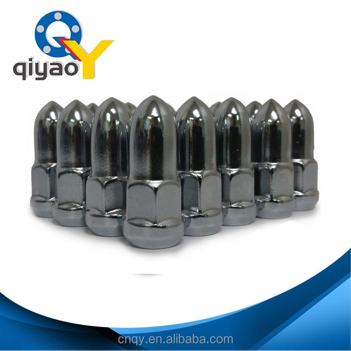 7//16 Closed END 20 Bullet Lug Nuts Chrome Bulge Acorn