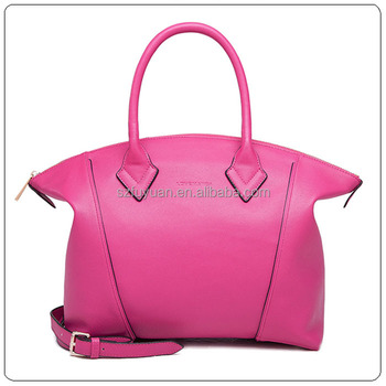 3d29a61bdb43 2018 the most popular trend leather pink handbag with china fashion style