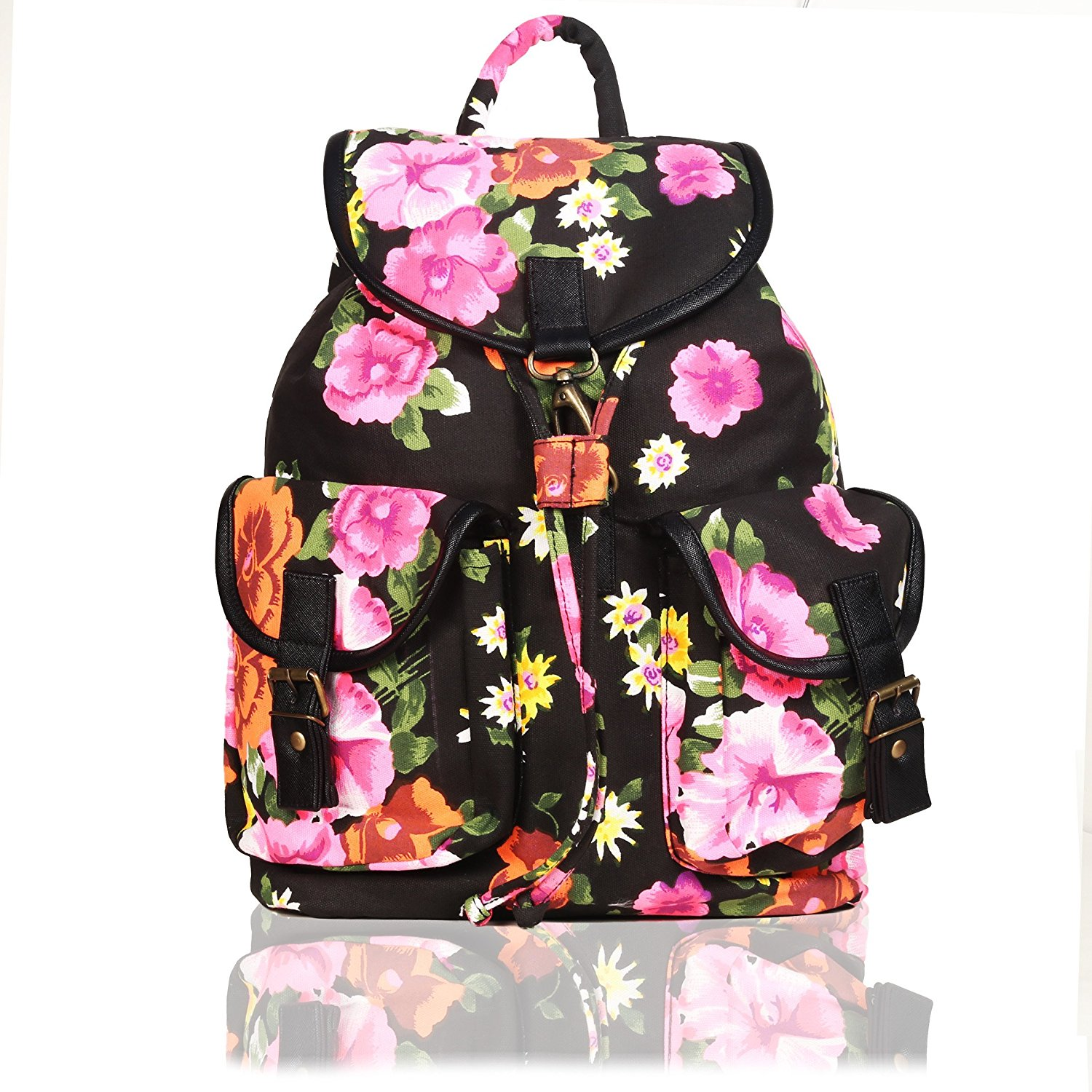 Pink And White Flower Backpack Fenix Toulouse Handball