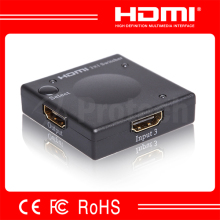 Automatic Hdmi Switch 3x1 V1.3 Support 3D HDMI Electric Switcher With Good After-Service