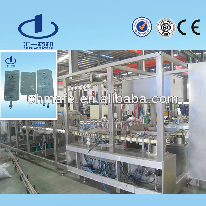 Normal Saline Plastic Bag IV Fluid Making Machine