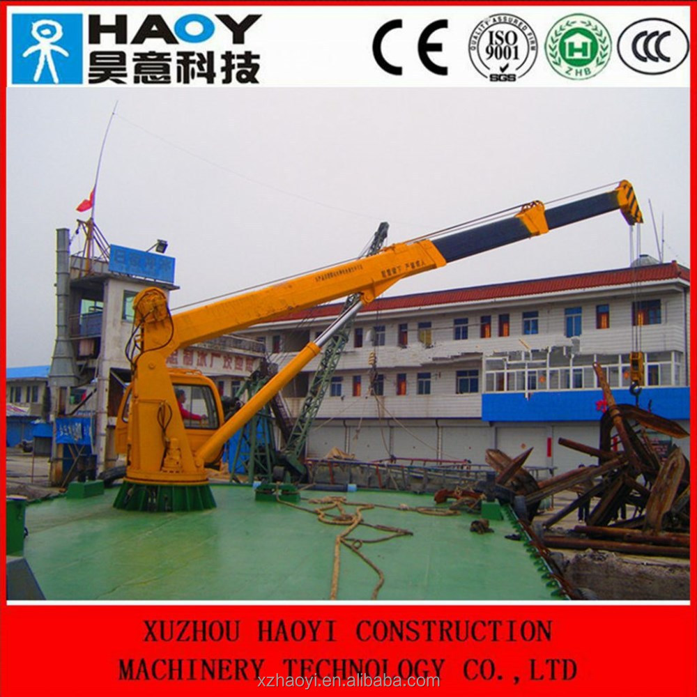 Telescopic Hydraulic Boom Slewing Floating Cranes With Grab Used ...