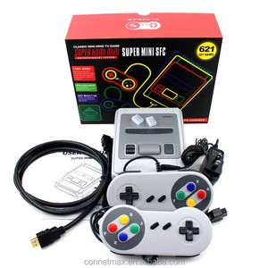 HDMl Mini HD 8 Bit Retro Family 4K TV Video Game Console Built- In 621 Classic Games Handheld Game Player