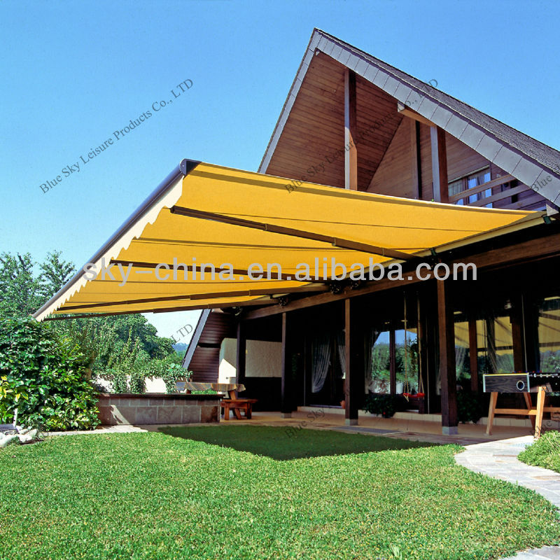 100% Anti-UV Aluminum Motorized Retractable Awnings for Window